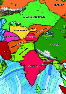 AATW--South and Central Asia non-musical map