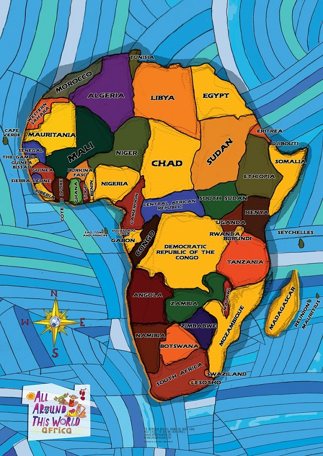 AATW--Africa CLASSROOMS Everywhere Map (smaller for imagemap)
