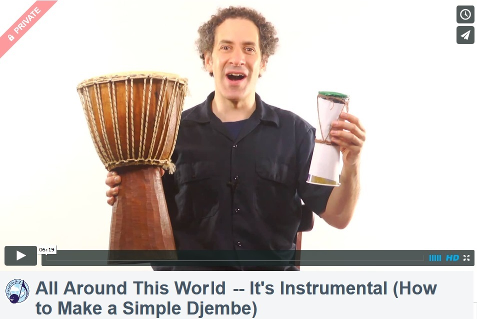 All Around This Word--EE It's Instrumental (Make a Simple Djembe)