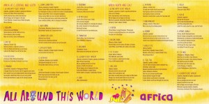 All Around This World--Africa CD insert lyrics