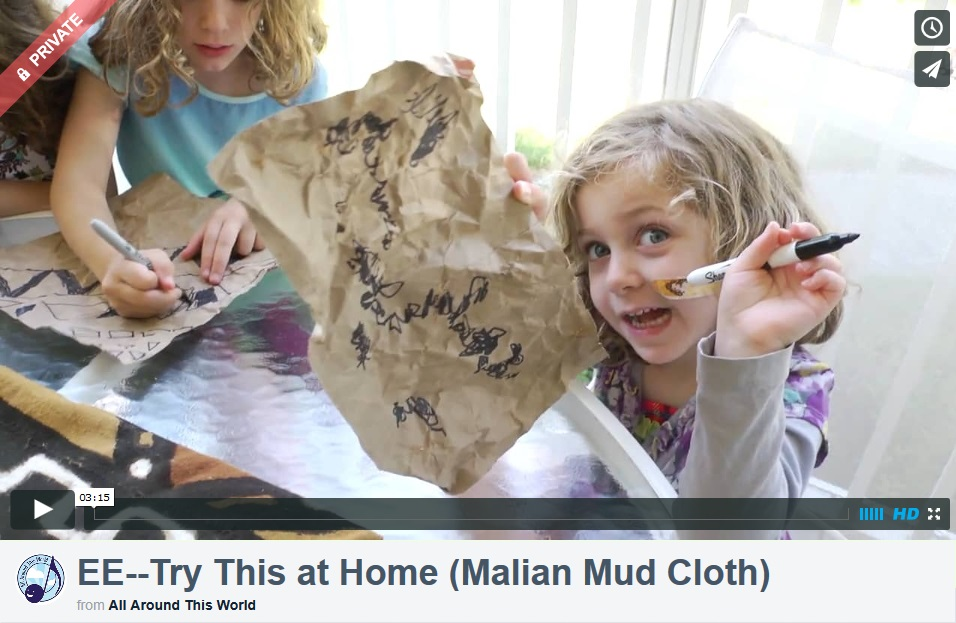 Mali Mud Cloth -- Try this at Home (Explore Everywhere)