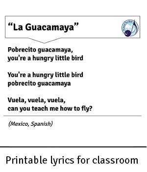 AATW--Latin America CLASSROOMS lyrics printout example2 for landing-2