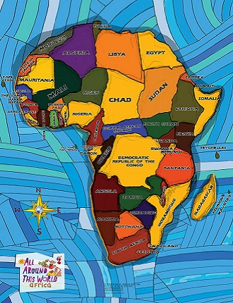 "All Around This World Africa E""verywhere Map"" -- One of our world maps for kids"